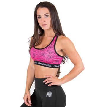 Gorilla Wear Hanna Sports Bra Black/Pink