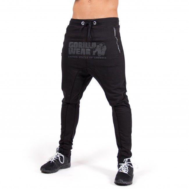 Black Bodybuilding Fitness Gorilla Wear Celina Drop Crotch Joggers